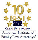 "2016 ""10 Best"" in Client Satisfaction - AIFLA"